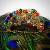 Stort armband med klara stenar - Färgglatt
