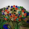 Stort armband med klara stenar - Färgglatt - Färgglatt
