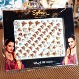Bindi smycken stor karta - Guldiga fjärilar