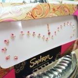 Smycke Bindi bridal/bröllop - Rosa