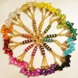 Färgglada diamant tassels/toffsar
