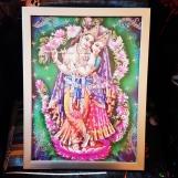 Tavla hinduiska gudar - Krishna & Radha
