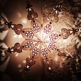 Stor vit & glittrig julstjärna/adventsstjärna - SNÖFLINGA