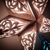 Glittrig vintage julstjärna/adventsstjärna - SILVERVIT