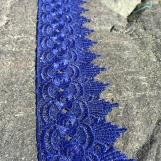 Spets Blomma Mörkblå 8 meter