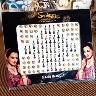 Bindi smycken stor karta - Multifärg - Multifärg