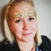 Smycke Bindi bridal/bröllop - Svart