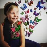 Barnklänning mönstrad Elsa flera färger
