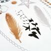 Glam tattoos metallic Fjäder