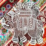 Indiska trästämplar Elefant