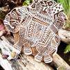 Indiska trästämplar Elefant - Indisk trästämpel Elefant