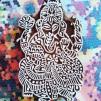 Indiska trästämplar Ganesh