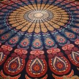 Mandala Peacock mörkblå