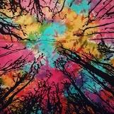 Mandala Färgglad batik