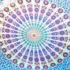 Mandala Peacock färgglad - Mandala mönster pastell