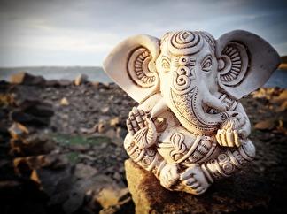 Vit Ganesh staty - Vit Ganesh staty