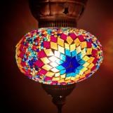 Orientalisk lykta Multifärgad solmönster