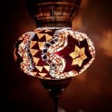 Orientalisk lykta Brun och guld