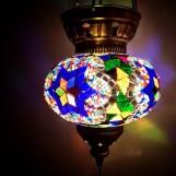 Orientalisk lykta Multifärgad med blå stjärna