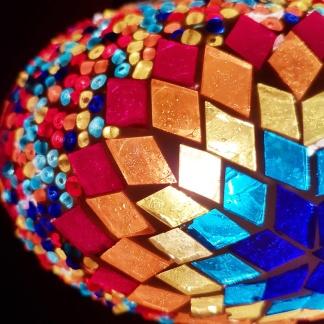 Orientalisk lykta Multifärgad solmönster - Multicolor