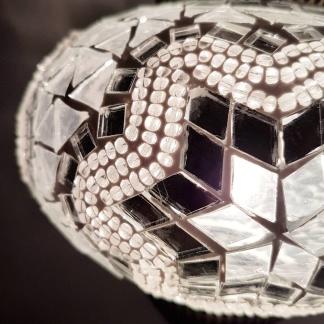 Orientalisk lykta Vit & silver - Silver