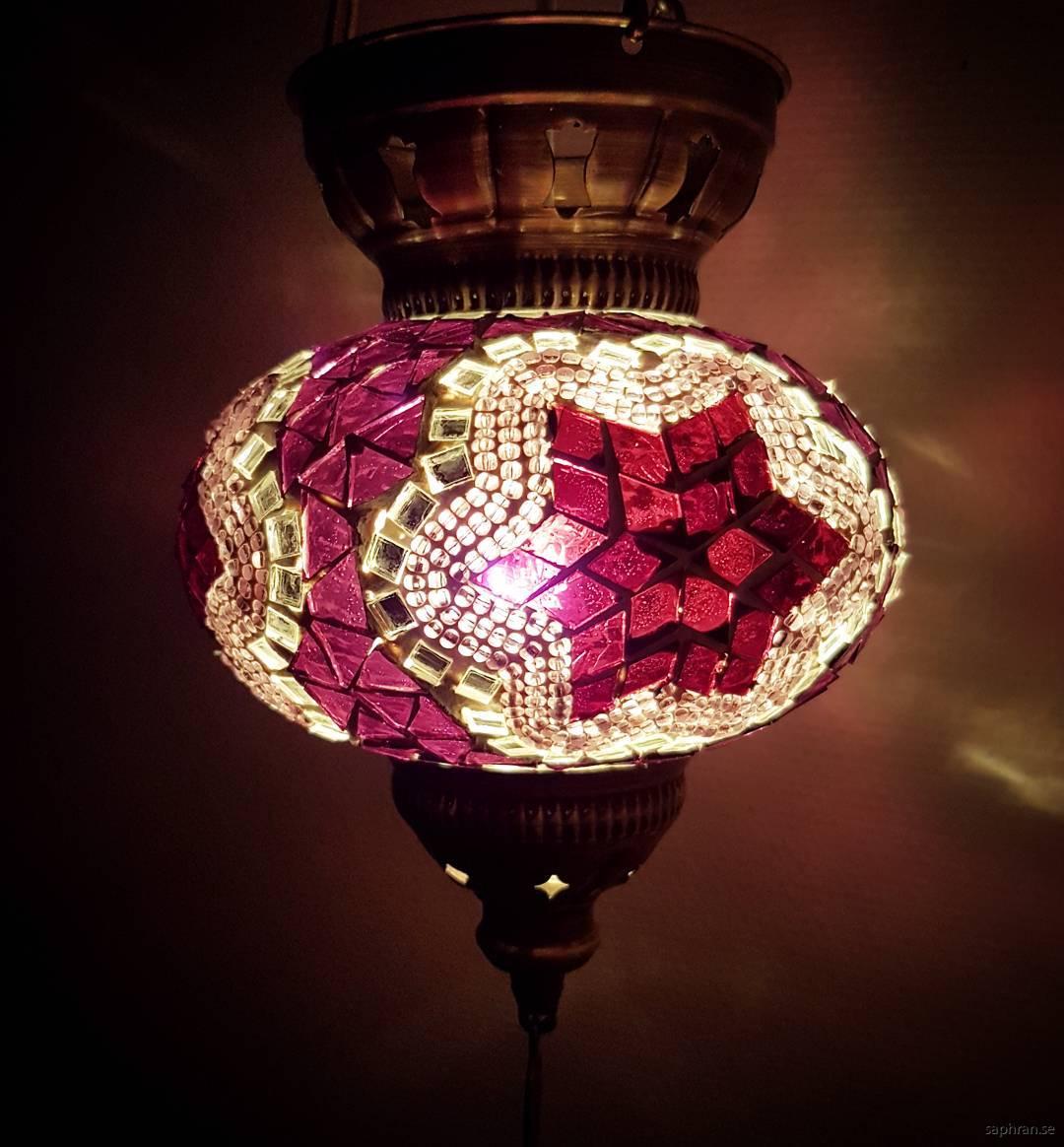 Orientalisk glaslykta lila