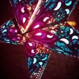 Glittrig färgglad julstjärna/adventsstjärna - TURKOS