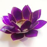 Lotusblomma ljuslykta - Lila