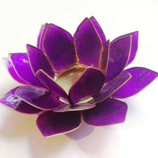 Lotusblomma ljuslykta - Lila - Lila
