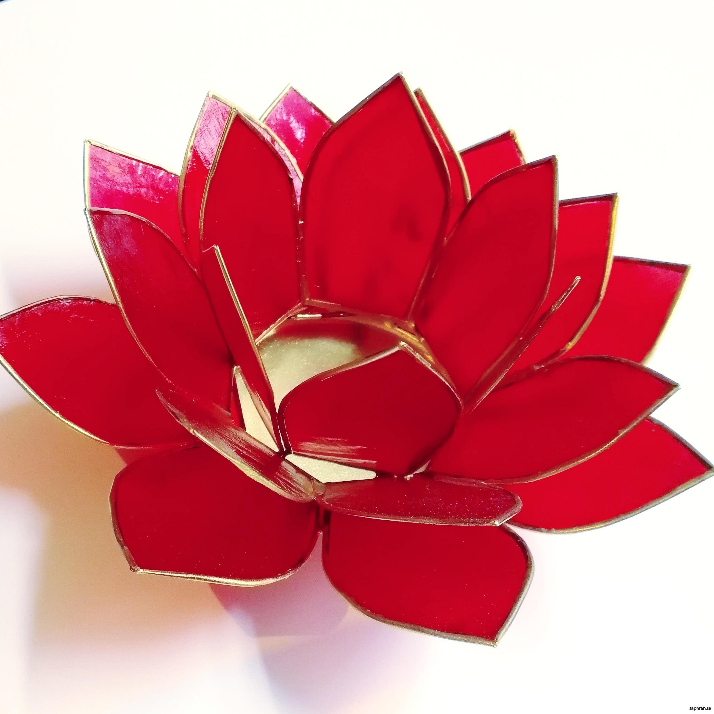 Lotusblomma ljuslykta 7 färger, röd