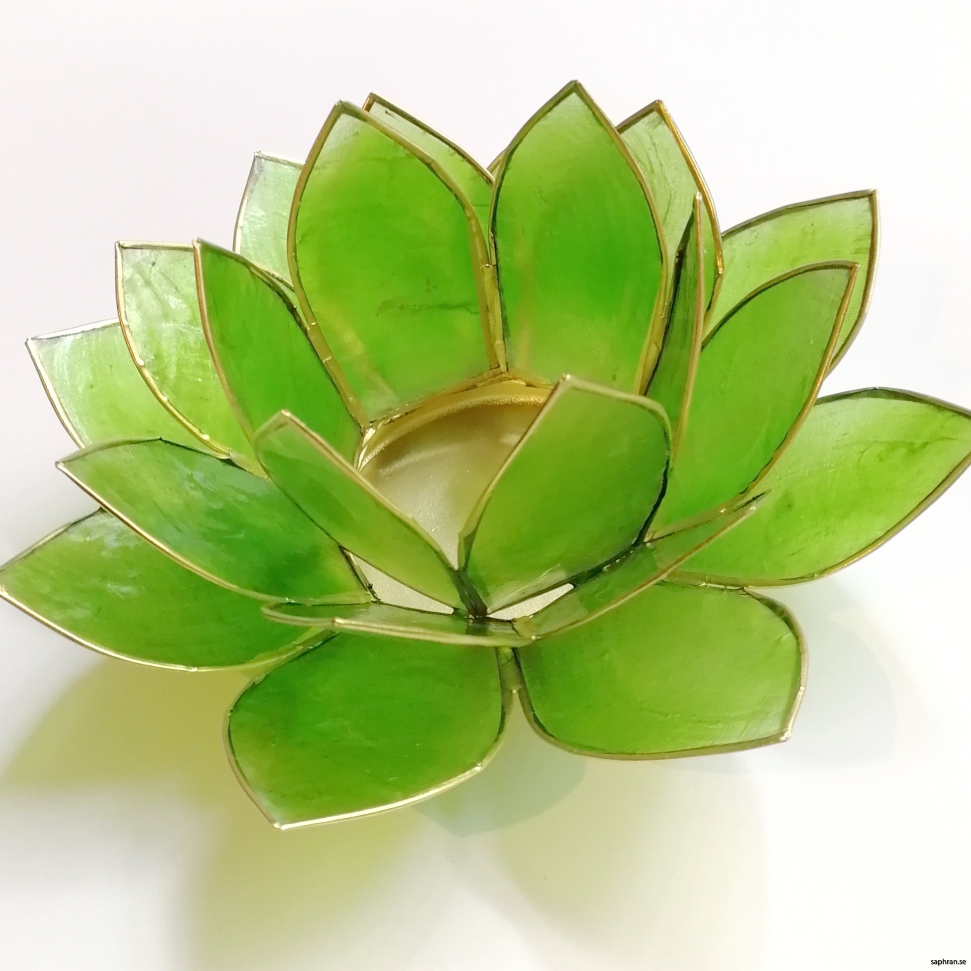Lotusblomma ljuslykta 7 färger, grön
