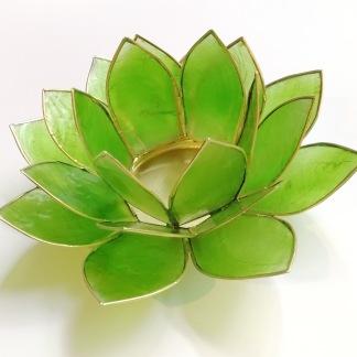 Lotusblomma ljuslykta - Grön - Grön