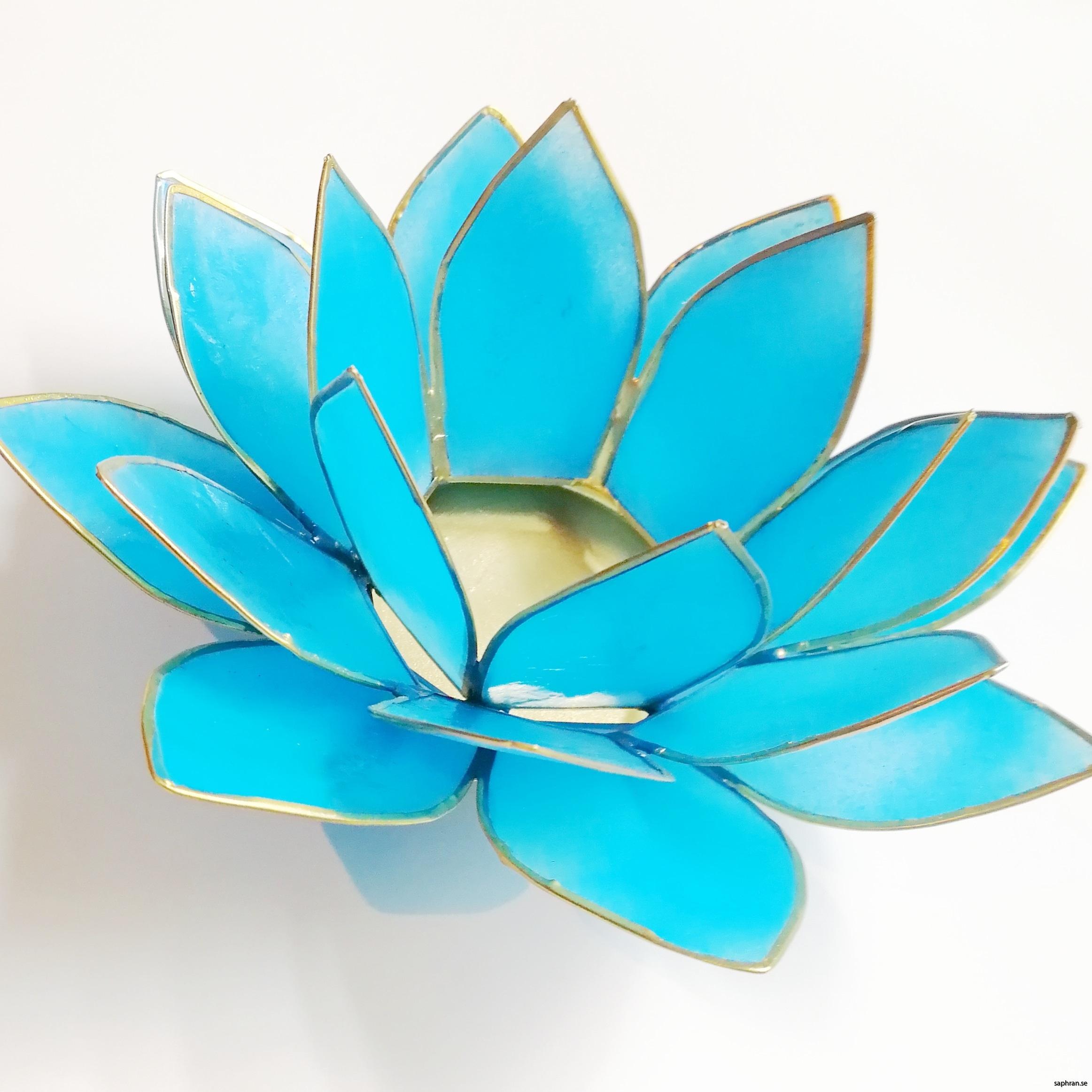 Lotusblomma ljuslykta 7 färger, turkos