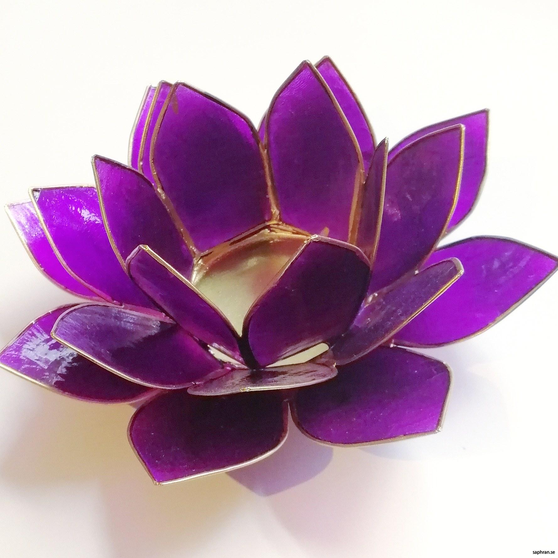 Lotusblomma ljuslykta 7 färger, lila
