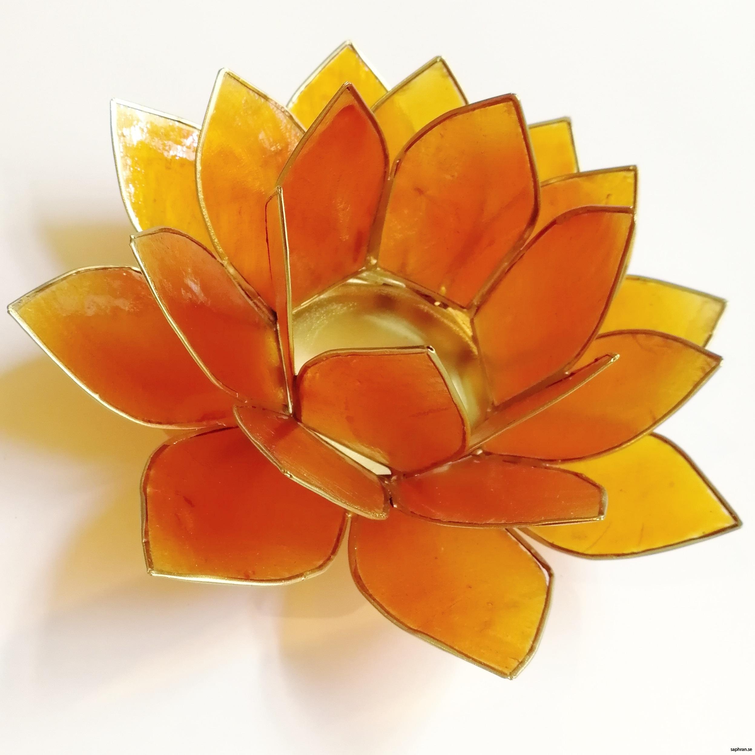 Lotusblomma ljuslykta 7 färger, orange