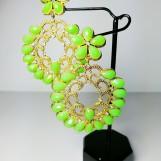 Örhängen Sommar Neongröna