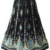 Bollywood kläder kjol Svart