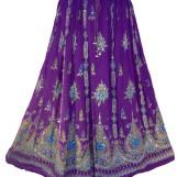 Bollywood kläder kjol Lila