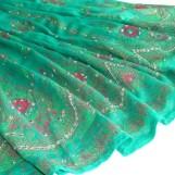 Bollywood kläder kjol Grön