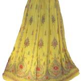 Bollywood kläder kjol Gul 2:a hand