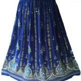 Bollywood kläder kjol Blå