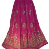 Bollywood kläder kjol Cerise