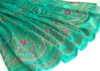 Bollywood kläder kjol Grön - Grön