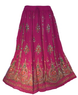 Bollywood kläder kjol Cerise - Cerise