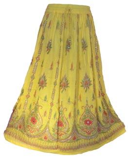 Bollywood kläder kjol Gul 2:a hand - Gul