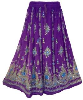 Bollywood kläder kjol Lila - Lila