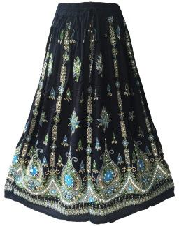 Bollywood kläder kjol Svart - Svart