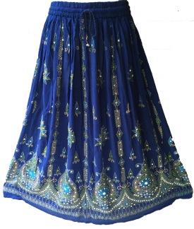 Bollywood kläder kjol Blå - Blå
