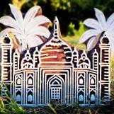 Indiska trästämplar Taj Mahal
