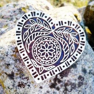 Indiska trästämplar Hjärta - Indisk trästämpel Hjärta